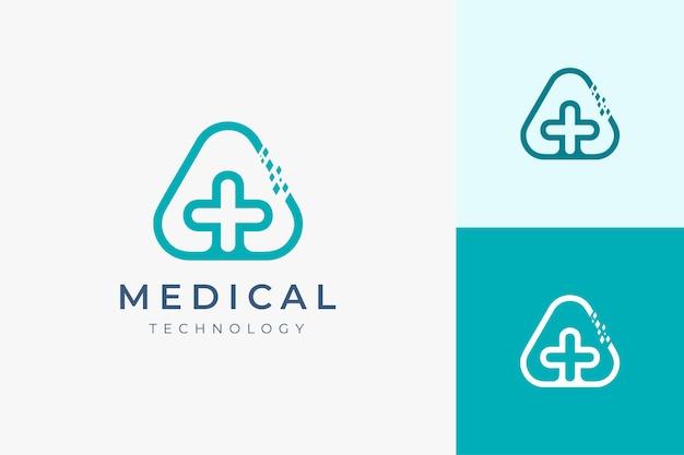 현대적인 모양의 의료 기술 로고