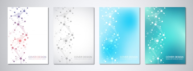 Medical templates for cover with abstract hexagons pattern. concepts and ideas for medical, healthcare technology, innovation medicine, science.