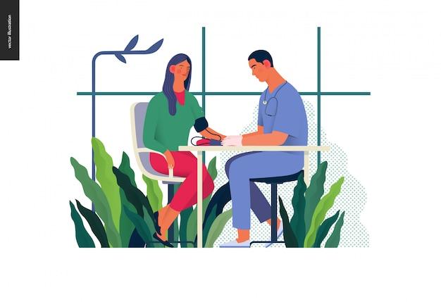 医療検査テンプレート-血圧検査