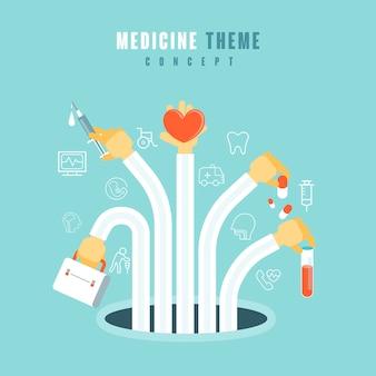 Концепция медицинской темы в стиле