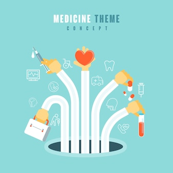 Medical theme concept in   style