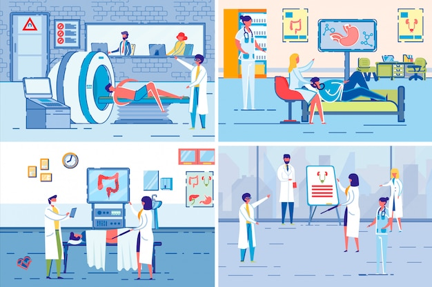 Medical tomography and x-ray examination vector.