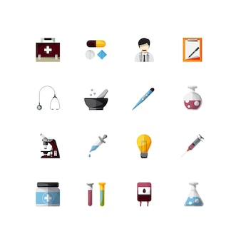 Medical tools element of icons design