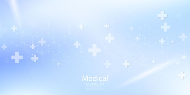 Medical treatment in innovation concept abstract  technology communication concept vector background.