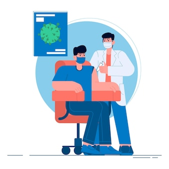 Medical vacine flat illustration