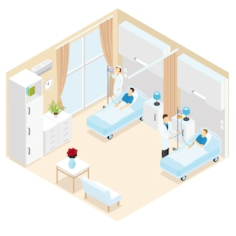 Medical ward isometric