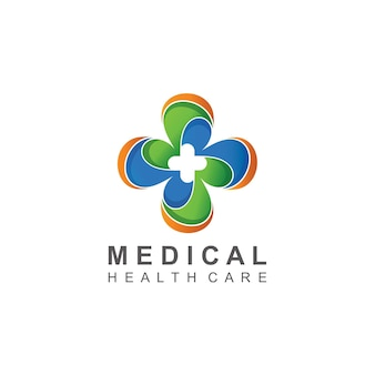 Medical with cross abstract logo design