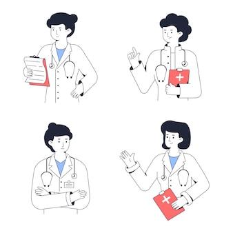 Портрет медицинского работника женщина-врач сообщает диагноз