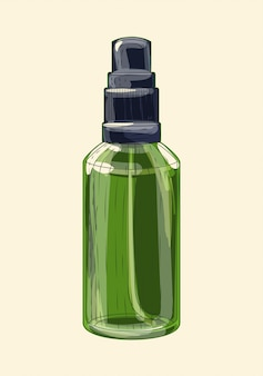 薬用緑色ガラス噴霧器