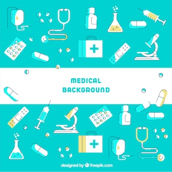 Medicine background in flat style
