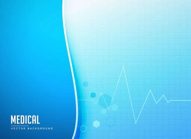 Medicine background with electrocardiogram