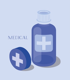 Medicine bottle drugs icon