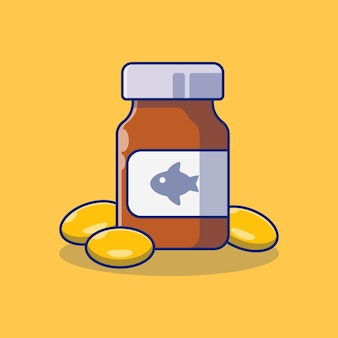 Medicine bottle vector illustration design and some medicine pills