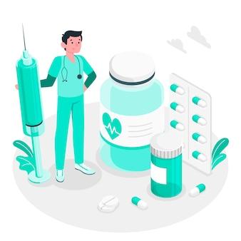 Illustrazione di concetto di medicina