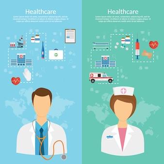 Medicine concept vector illustration in modern flat design style