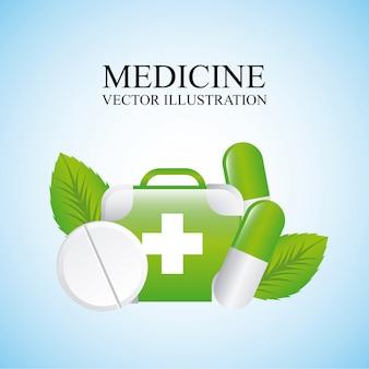 Medicine design over blue background vector illustration