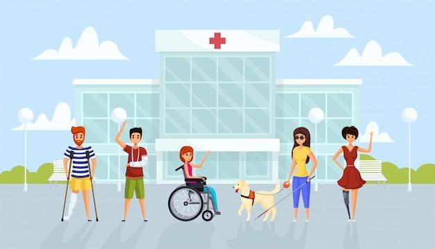 Medicine, disability, healthcare concept