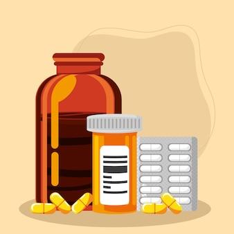 의약품 및 알약 팩