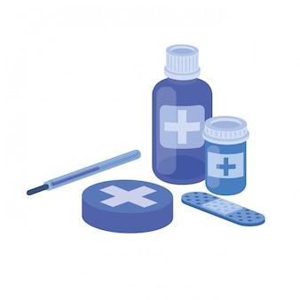 Medicine drugs on white