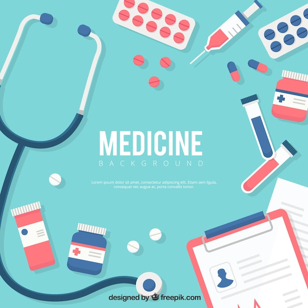 medicine-elements-background-in-flat-sty