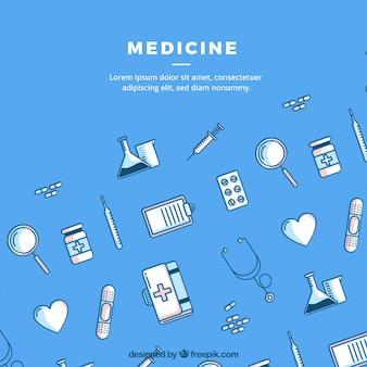 Medicine elements background