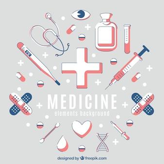 Фон элементов медицины