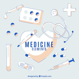 Medicine elements background