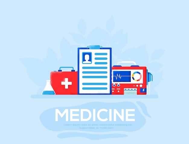 의학 전단지, 잡지, 포스터, 책 표지, 배너. .
