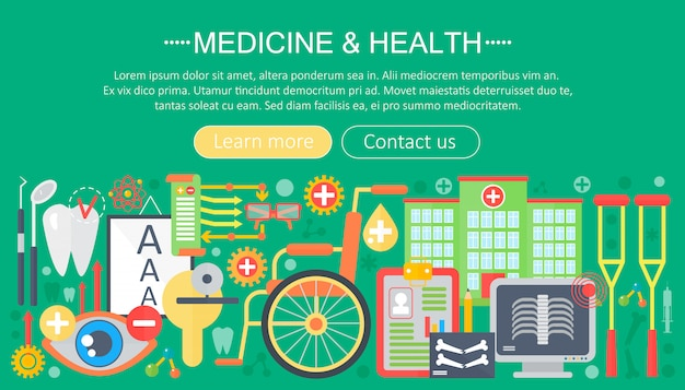 Medicine and health infographics template design