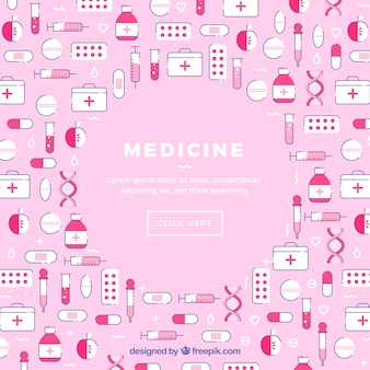 Medicine icons background