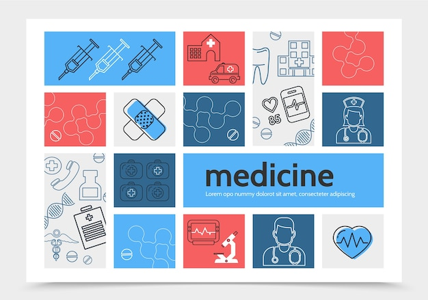Medicine infographic template