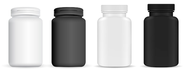 Medicine pill bottle. vitamin package