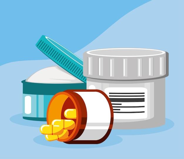 Medicine products healthcare pills cream