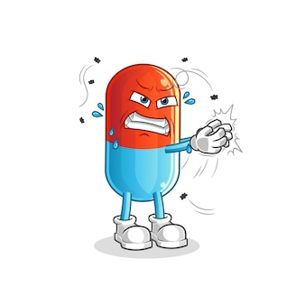 Medicine swat the fly character mascot