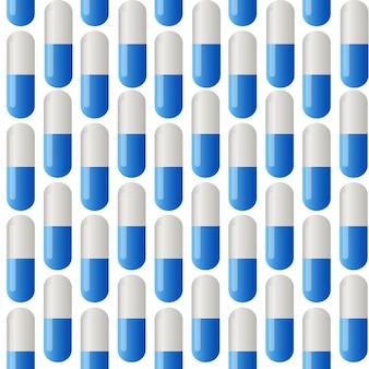 Medicine vector seamless pattern. colorful tablets. vector illustration