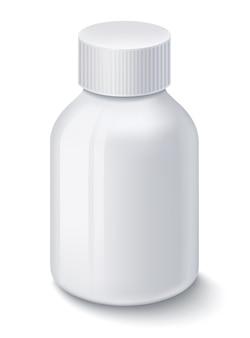 알 약 흰색 절연 약 흰색 플라스틱 병