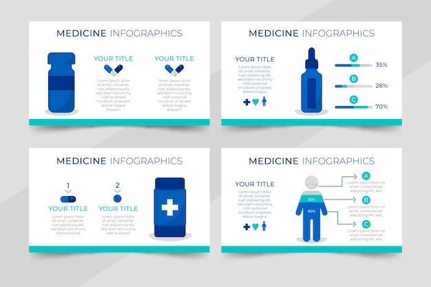 의약품 인포 그래픽 평면 디자인