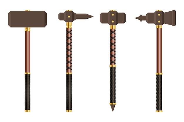 Medieval battle hammer   illustration