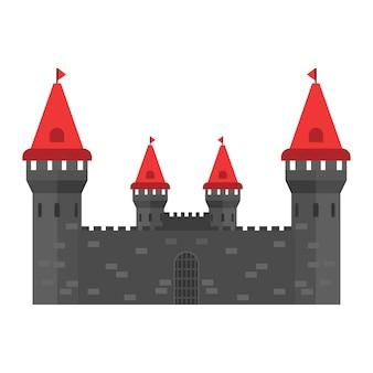 Medieval castle exterior illustration