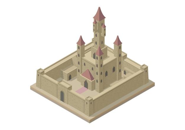 中世の城のイラスト