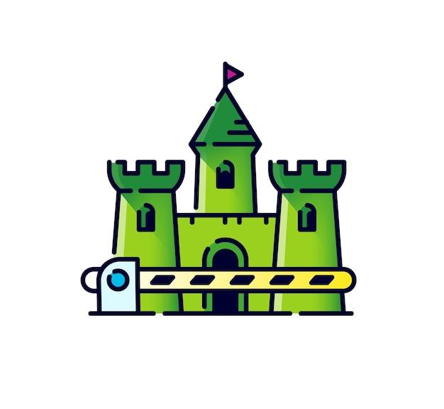 문이 있는 중세 성