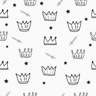 Medieval element seamless pattern background