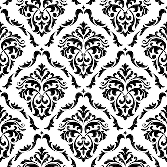 Medieval floral seamless pattern background