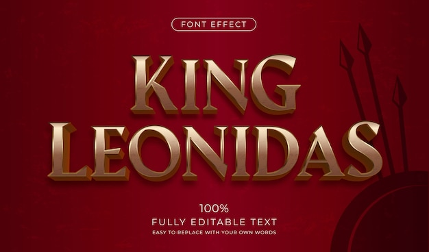 Medieval gold text effect. editable font style