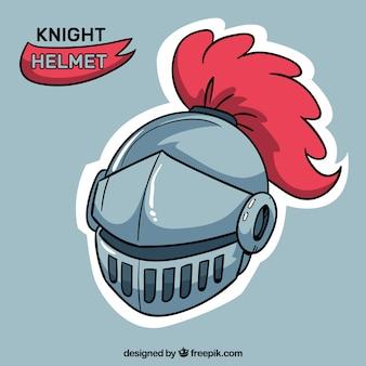 Средневековый шлем с ручным рисунком