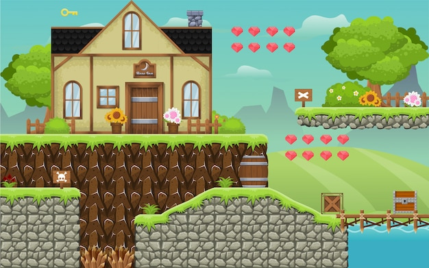Medieval inn game tileset
