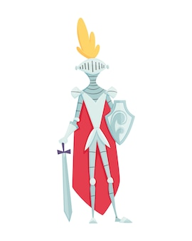 Medieval kingdom character of middle ages historic period s. knight in armor.