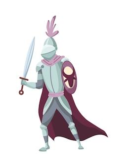 중세 역사 시대의 중세 왕국 캐릭터