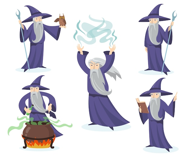 중세 마술사 세트.