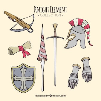 Medieval pack of hand drawn elements